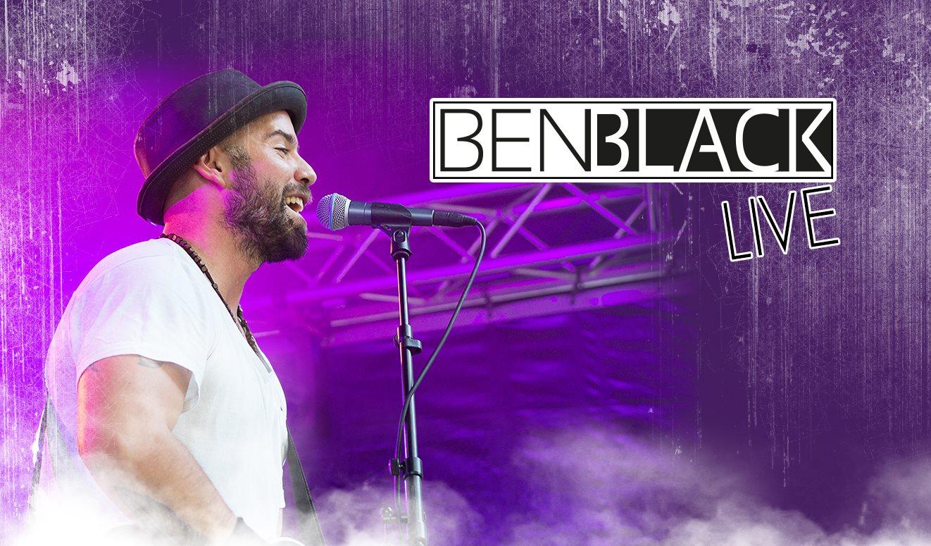 Flyer für das Konzert mit Ben Black im März 2017