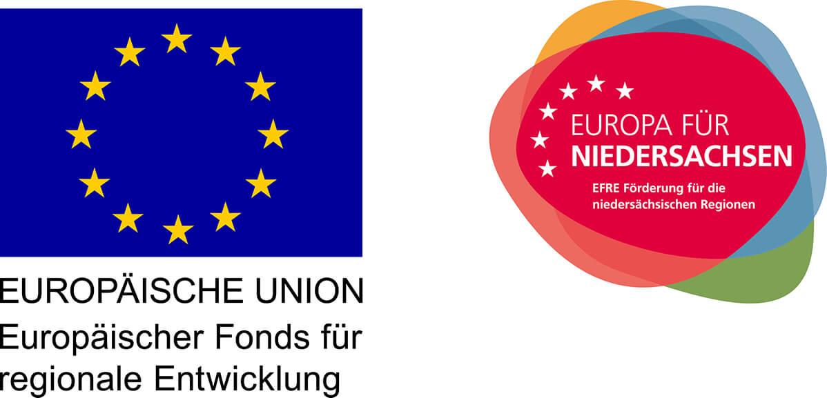 Label EU und Europäischer Fonds für regionale Entwicklung